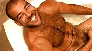 Muscled wrestler Roman Wright