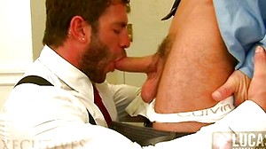 Muscled Businessmen Avi Dar and Marc Dylan Suck and Fuck