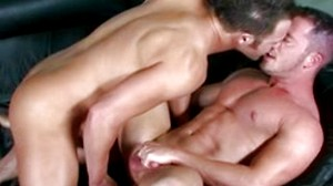 Gay plays with his friend's ass hole