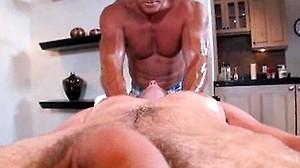 Oily Fondling Ass Massage